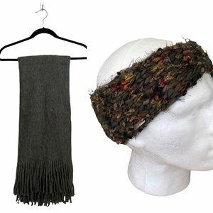 Steve Madden Headband & Fringe Blanket Scarf Set